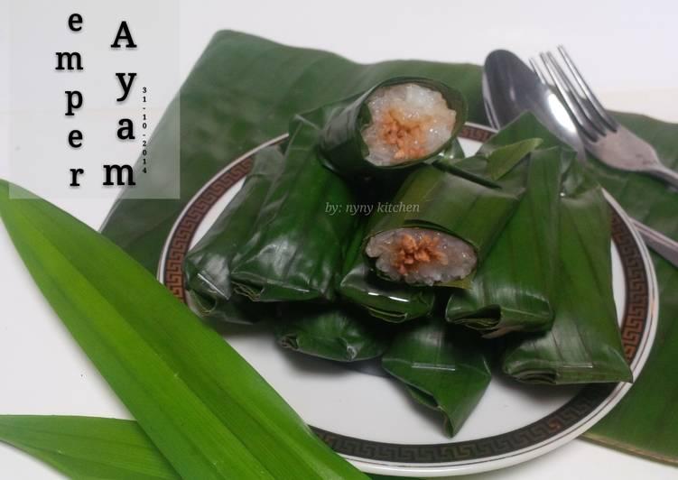 Lemper Ayam Praktis (rice cooker)