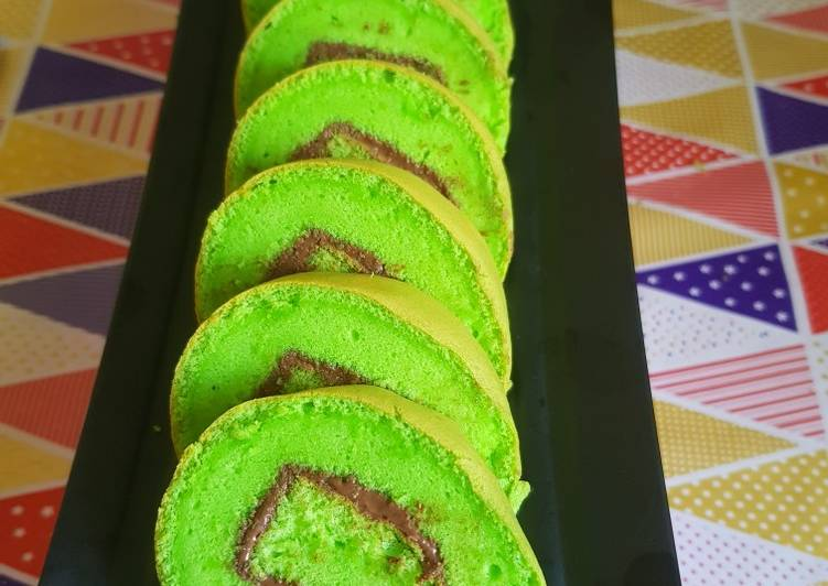 Bolu gulung (takaran sendok)