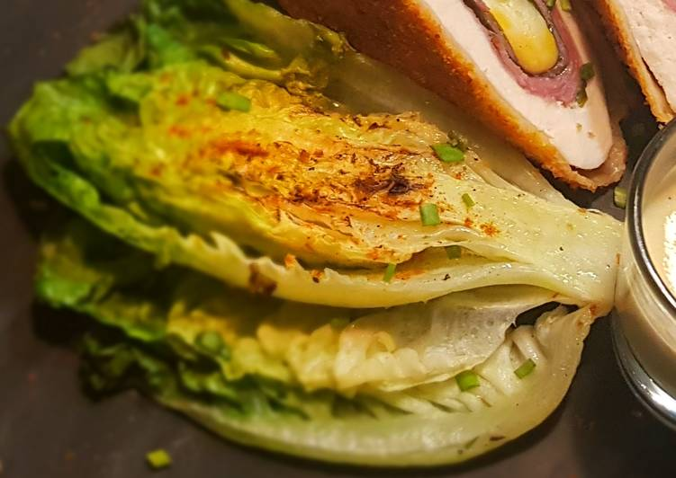 Grilled/pan fried Cos Lettuce