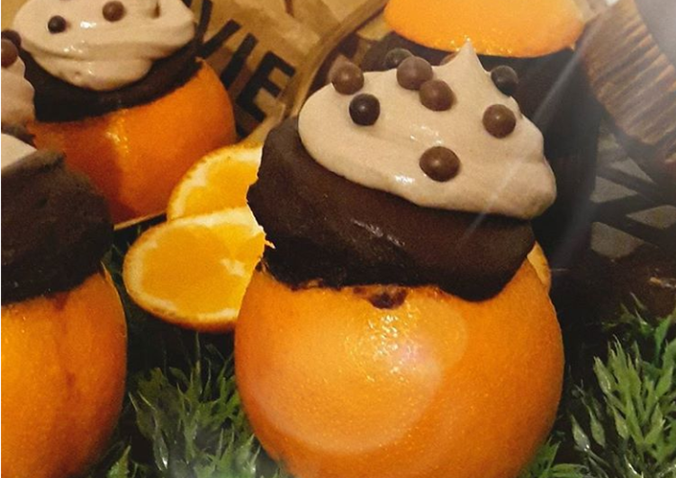 ☆Muffins Intensément Choco Mandarines☆ où Quand le fruit sert de Cup🍊