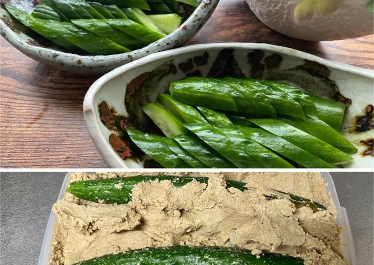 Recipe of Favorite Japanese 'Nukazuke' (fermented vegetables)