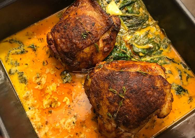 Spicy Roasted Chicken with Lemon Butter Sauce