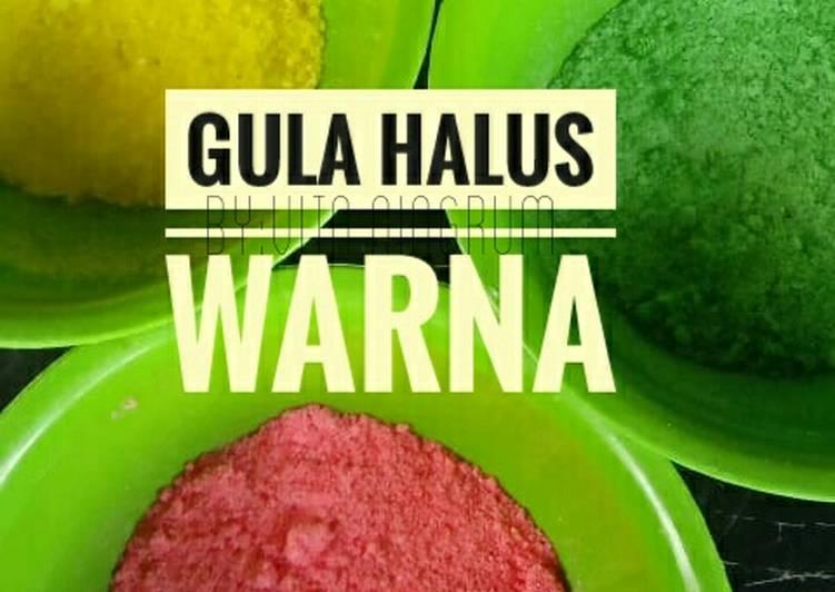 Resep Gula halus warna untuk donat, Enak Banget