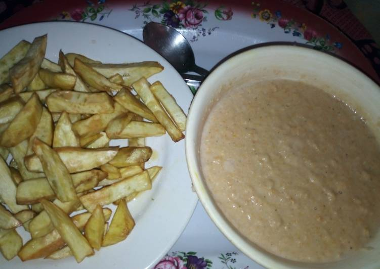 Golden Morn with Fried Sweet Potatoes