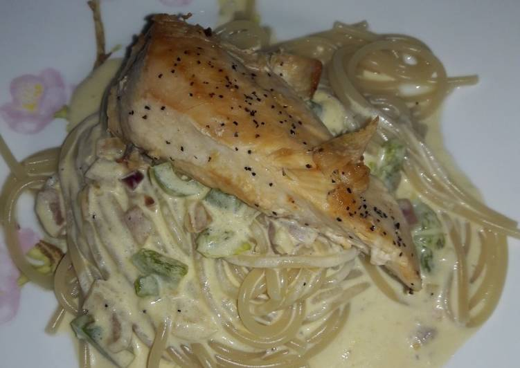 "Pan seared chicken ""Alfredo"""