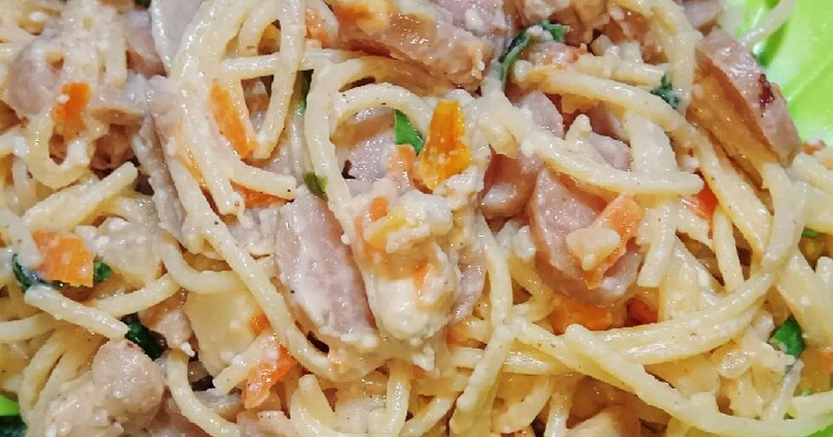 resep spaghetti carbonara keju soalan Resepi Carbonara Tanpa Keju Enak dan Mudah