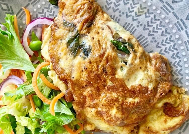 Thai crispy omelette (Khai Jeaw)