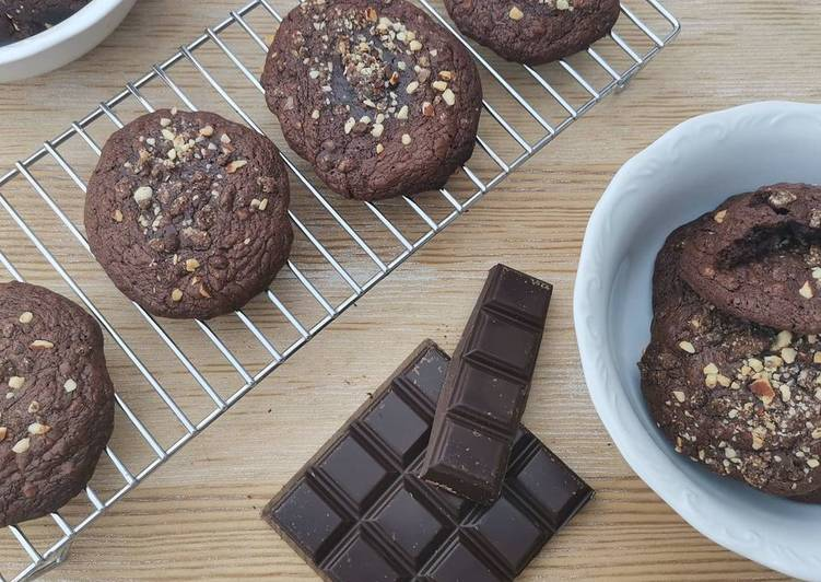 Comment à Préparer Speedy Cookies moelleux tout chocolat & noisette