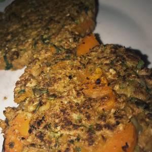 Hamburguesas de soja texturizada, albahaca y zanahoria