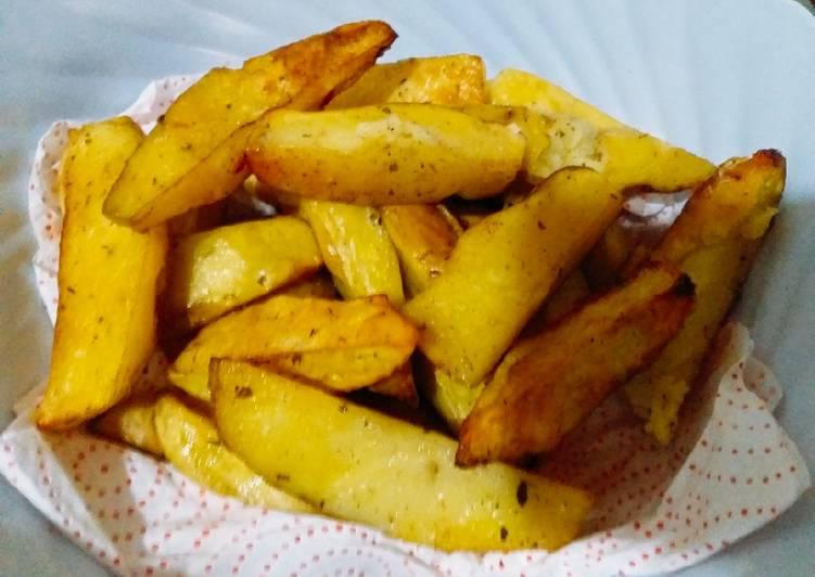 Recipe of Quick Spicy potato wedges