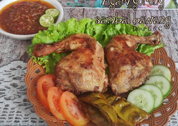 Ayam goreng sambal bawang