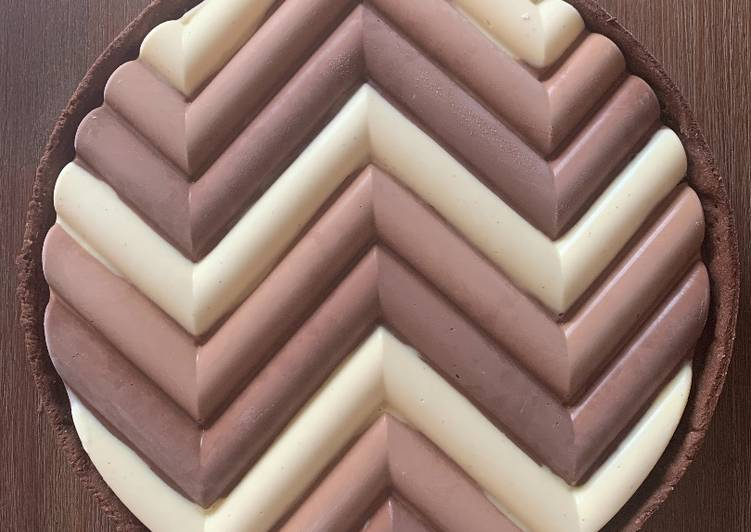 Tarte aux 3 chocolats
