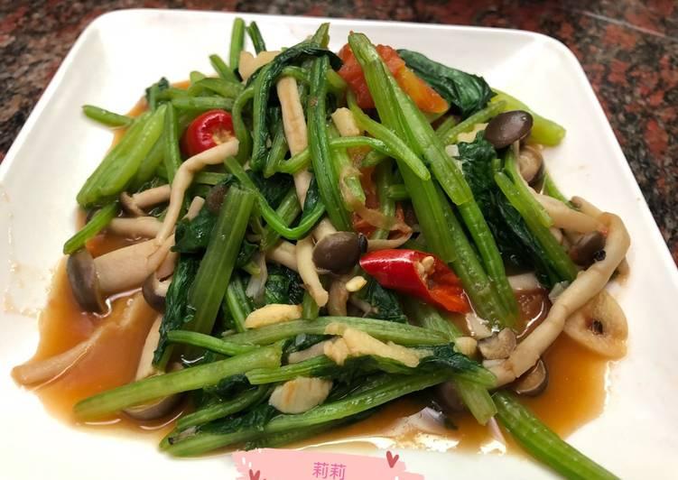 Tumis Bayam Taiwan 番茄炒菠菜