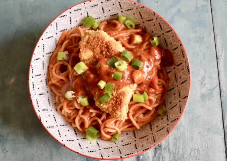 Recipe of Favorite Crumbed Chicken Spaghetti