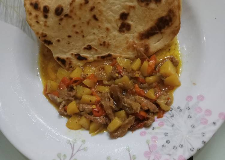 10 Minute Dinner Ideas Super Quick Homemade Arabian Khubz with beef and potato soup