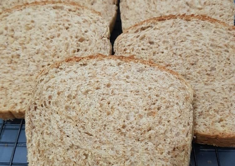 Roti Gandum tanpa telur 1x proofing