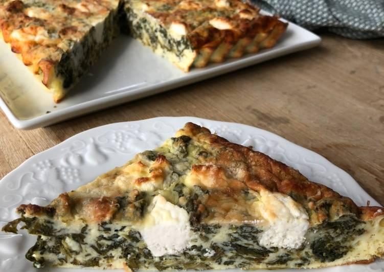 Le moyen le plus simple de Préparer Savoureux Quiche sans pâte épinard chèvre