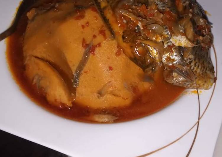 Recipe of Super Quick Homemade Onunu with fresh fish pepper soup