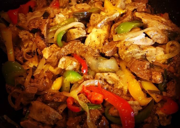 Easiest Way to Cook Yummy Steak & Chicken Fajitas