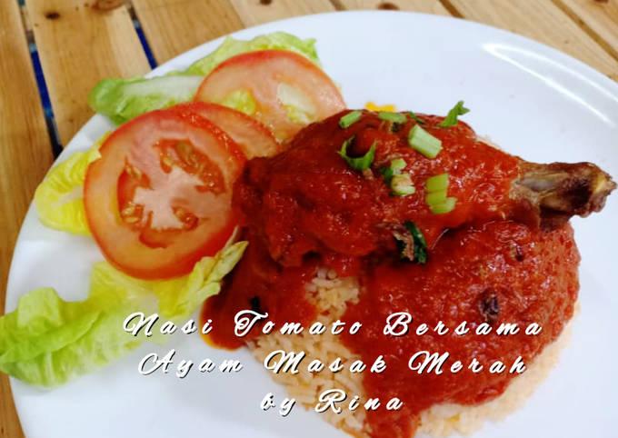 Nasi Tomato Bersama Ayam Masak Merah by Rina