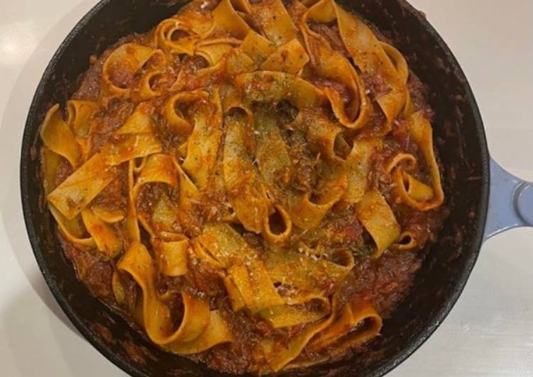 Pappardelle with slow cooked Beef Ragu