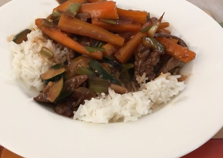 Recipe of Quick Sesame Beef