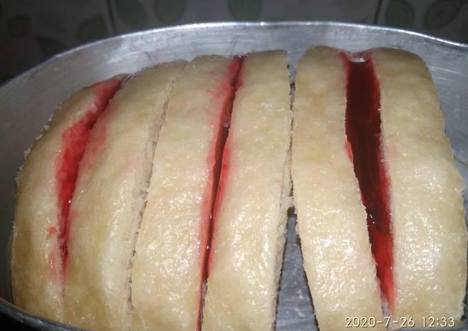 Resep Roti kukus (bisa diisi selai sarikaya, strawberry, abon…