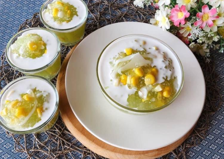 Recipe of Ultimate 🧑🏽🍳🧑🏼🍳 Thai Dessert • Coconut Pudding With Tapioca Pearls•Sago Dessert Recipe |ThaiChef Food