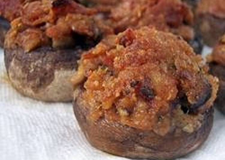 M.D.'s Pepperoni stuffed mushrooms