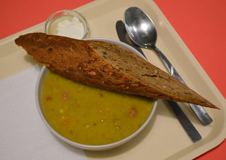 Ricetta Split pea soup with ham –Zuppa di piselli con prosciutto