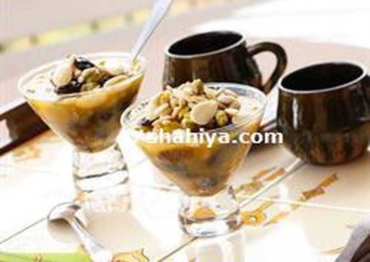 Simple Way to Prepare Favorite khoshaf: dried fruits compote
