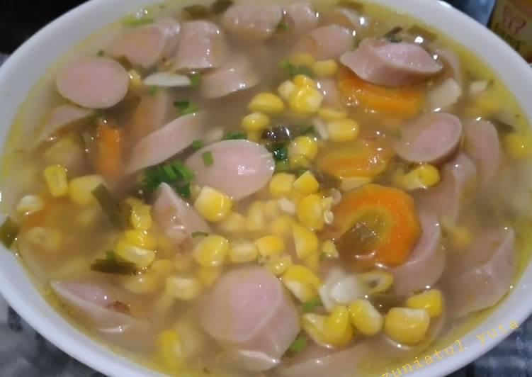 Resep Sup Jagung Sosis Yang Mudah Bikin Nagih