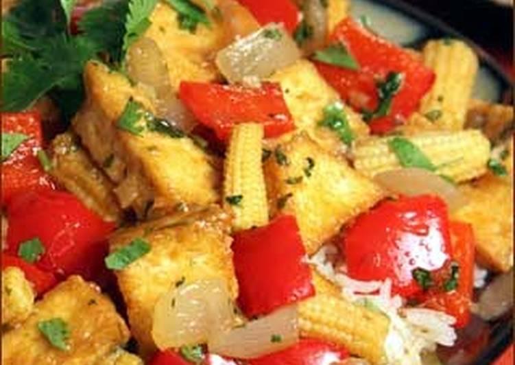 Steps to Make Award-winning Thai stir fry tofu