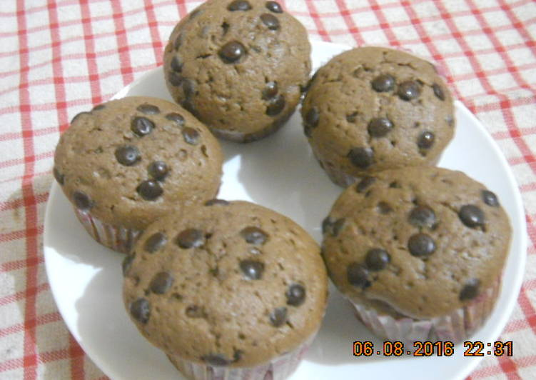 Double choco cup cake