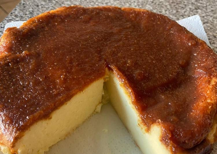 Easiest Way to Make Appetizing Baked Manchego cheesecake with a membrillo topping