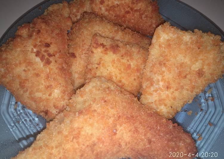 Resep Roti Tawar Crispy Mozzarela ala Anak Kost untuk cemilan WFH :) Bikin Laper