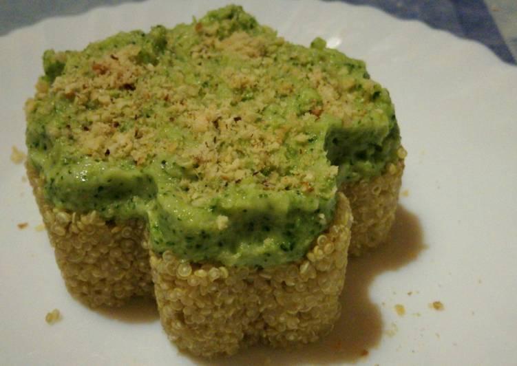 Purée de brocoli à la noisette et quinoa