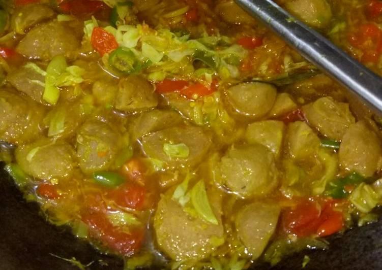 Tongseng bakso pedas nampol