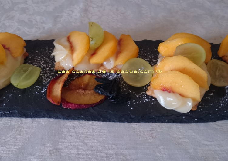 Mini tartitas light de crema y frutas con thermomix