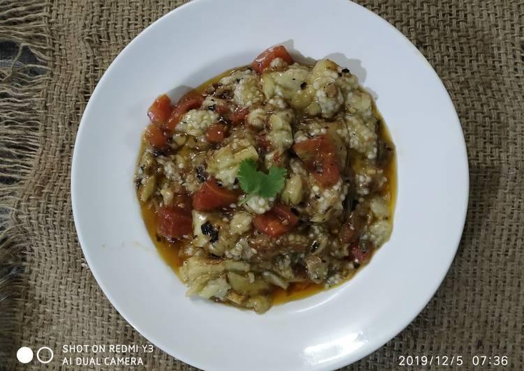 Roasted eggplant mash