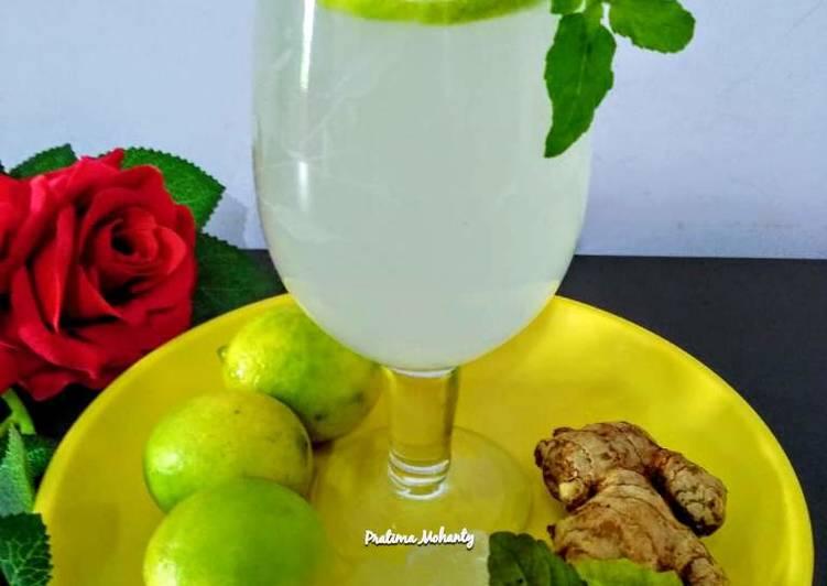 Steps to Prepare Homemade Ginger Lemonade