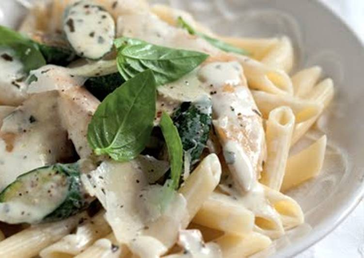 Basil, Lemon and Garlic Chicken Pasta