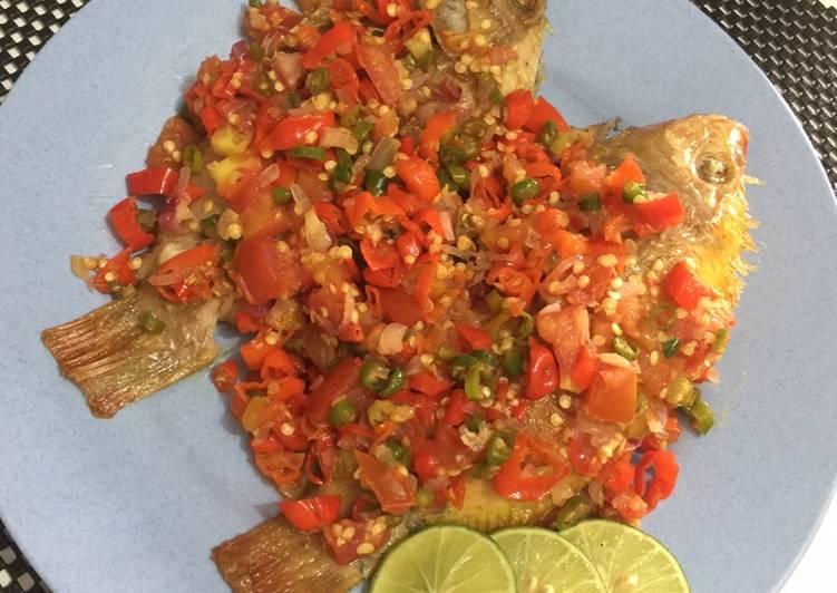 Ikan nila sambal dabu dabu