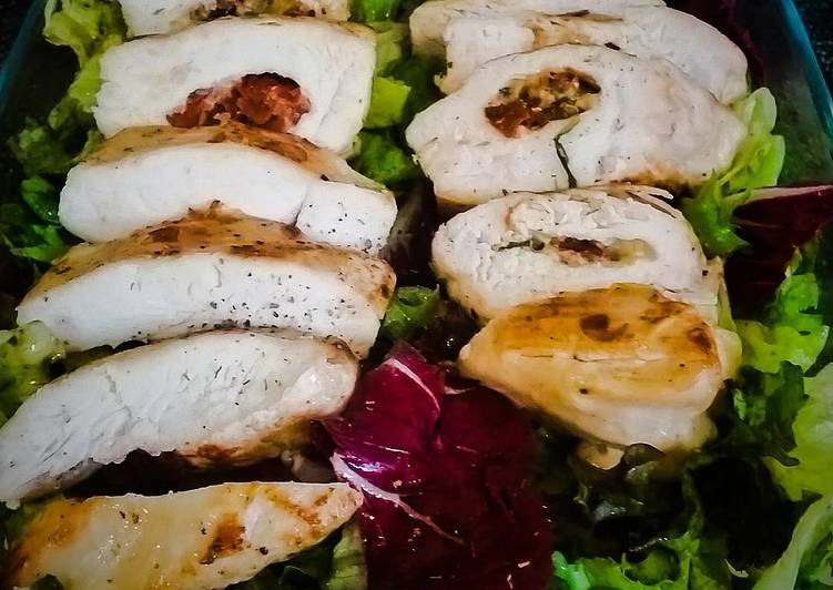 Recipe of Speedy Chicken breast with basil and sundried tomato