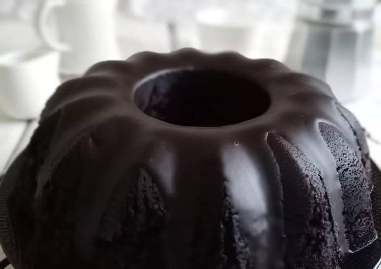 Steamed Moist Chocolate Cake / Bolu Kukus Coklat - No mixer No oven