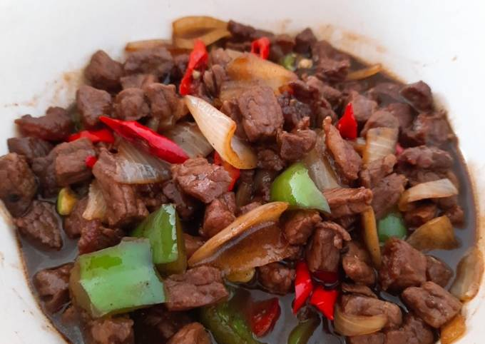 Beef Blackpepper simple - projectfootsteps.org