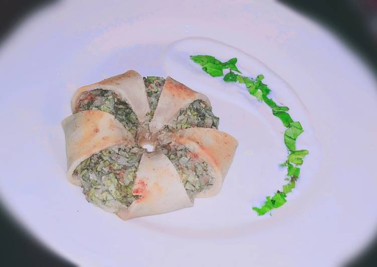 Easiest Way to Cook Perfect Vegan spinach dip crescent Roll Ring🥯
