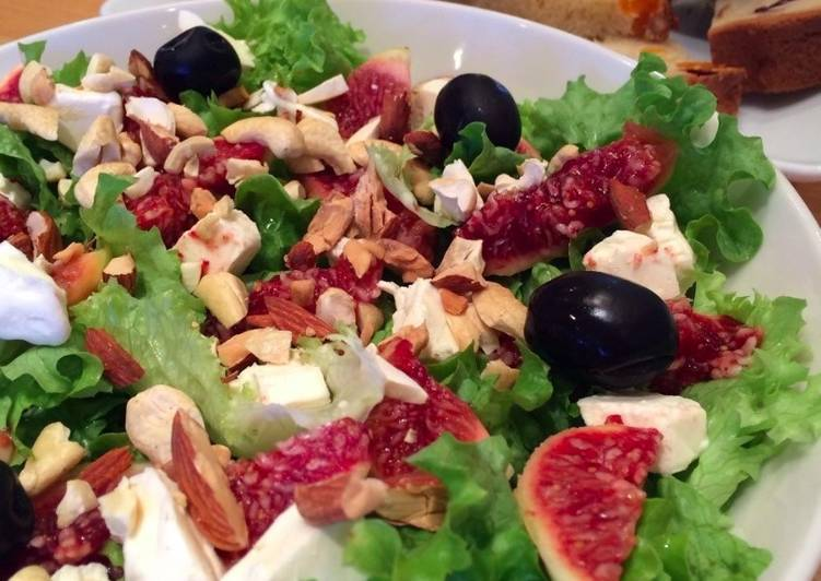 Recipe of Super Quick Homemade Colorful & Healthy fig salad