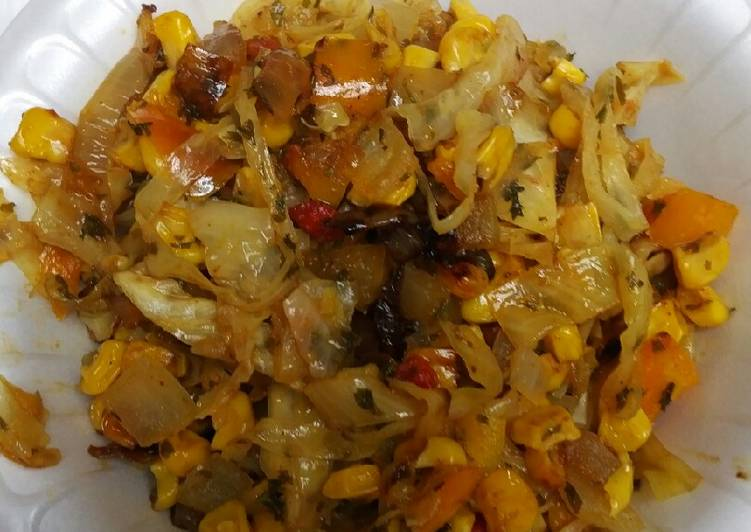 Corn Pepper and Cabbage Relish