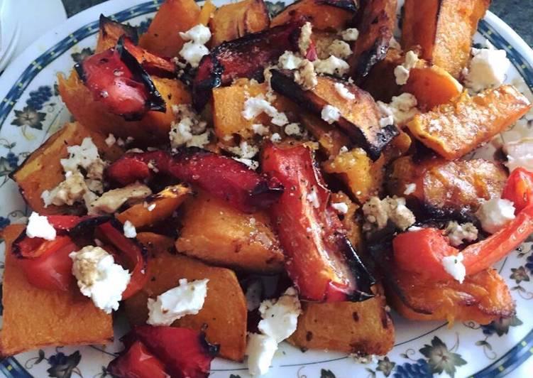 #Salads# Pumpkin capsicum salad